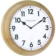 oak wood wall clock 26cm