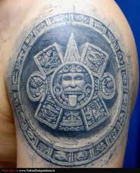 mexican aztec tattoo on back in 2017 real photo pictures images