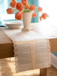 make your own table runner stylish projects from vintage books books craft and tablescapes
