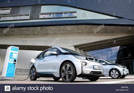 electric cars bmw two bmw i3 electric cars in front of the bmw factory in leipzig