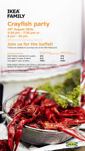 ikea family price ikea all you can eat crayfish party tickets now available from 26