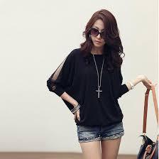trendy blouses fashion s trendy three quarter sleeve t shirt batwing