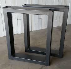 in metal table legs decor custom made metal table legs burton by urban ironcraft