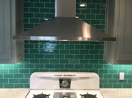 Kitchen Backsplash Blue Glass Subway Tile Kitchen Backsplash Emerald Green Subway Tile