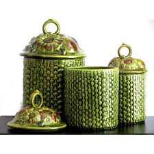 Green Canister Sets Kitchen - best 25 ceramic canister set ideas on pinterest kitchen