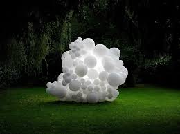 white balloons amm modern with white balloons