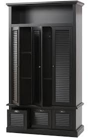 Black Storage Armoire Restoration Industrial Style Hardware Shutter Locker Storage