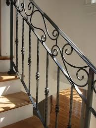 Stairway Banister Ideas Stair Railings Interior Metal Stair Railing Ideas For Modern