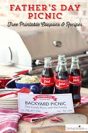 Backyard Picnic Ideas Father U0027s Day Recipes U0026 Free Printable Coupons
