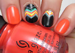 bright funky chevron nail art adventures in acetone