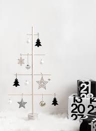 diy wood dowel tree modern christmas diy wood and small spaces