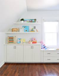 adding built ins u0026 white floating shelves around a window niche