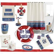 Nautical Bathroom Curtains Nautical Bathroom Sets Home Design Ideas And Pictures