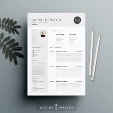 custom resume templates resume templates creative market resume template 4 pages moonlight