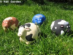 cow ornament cow garden ornament herd of cows