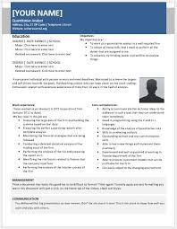 Credit Analyst Resume Sample by Quantitative Analyst Resumes For Ms Word Resume Templates