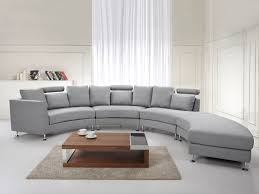 Curved Conversation Sofa by Curved Sectional Sofa Light Gray Fabric Rotunde