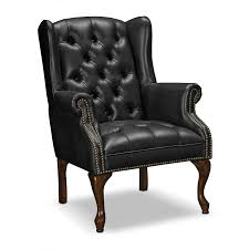 Small Black Leather Chair Simple Accent Leather Chairs On Small Home Remodel Ideas With