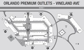 orlando premium outlets map orlando premium outlet vineland ave
