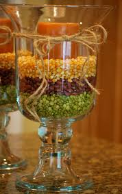 fall decorating with hurricane vases simple inexpensive fall