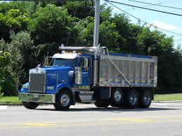 kenworth dump truck kenworth w900 tri axle dump truck chris flickr