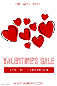 valentines sale customizable design templates for s day sale postermywall