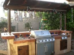 Outdoor Kitchen Custom Built In Traeger Grill Quaint Natural - Backyard grill designs