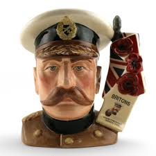 lord kitchener d7148 large royal doulton character jug