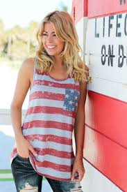 Cute American Flag Shirts Gray American Flag Tank Top With Bow Detail Cute Tops U2013 Saved By