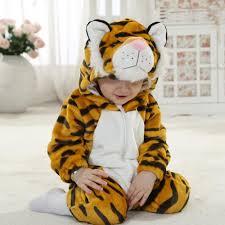 Infant Toddler Tiger Costume Aliexpress Buy Boy Baby Animal Romper Infant Costume Hooded