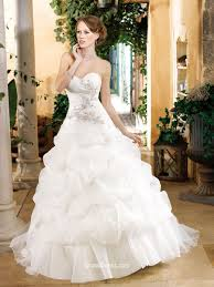 strapless organza timeless bridal ball gown with sweetheart