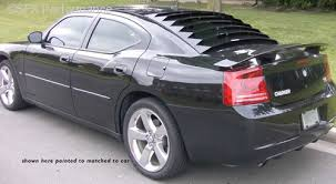 2010 dodge charger custom parts 2006 2010 dodge charger rear window louvers aluminum astra