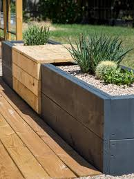 Deck Planters And Benches - make a modern planter and bench combo hgtv