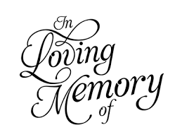 in memory of in memory of