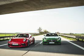 2018 porsche 911 gt3 vs 2018 mercedes amg gt r love at first