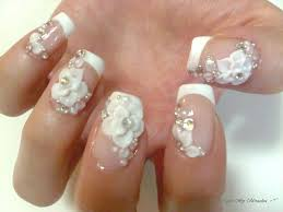 french tip 3d acrylic flowers gettin u0027 nailed pinterest