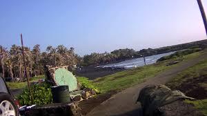 punaluu black sand beach park campground big island hawaii youtube