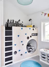 Wall Bunk Beds Room Kid Bunk Beds With Climbing Wall Ideas 20