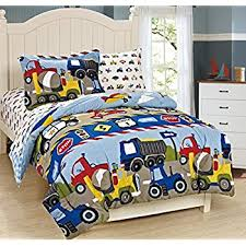 amazon black friday bedding amazon com dream factory trucks tractors cars boys 5 piece
