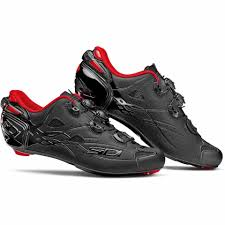 sport bike shoes sidi shot limited edition carbon cycling shoes black red