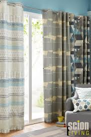 buy scion raita blue eyelet curtains from the next uk online shop