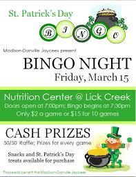bingo flyer bingo night poster template church