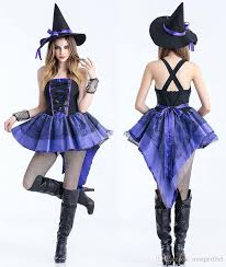 women halloween costume witch swallow tail coat party dress