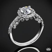 emily vintage cz wedding ring set