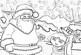 dora christmas coloring pages coloring pages kids