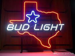 bud light light up sign 17 x14 bud light texas neon sign display beer bar pub garage neon
