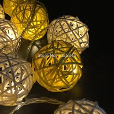 aliexpress com buy 20 set handmade rattan ball string lights
