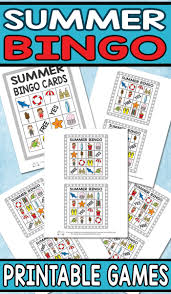 printable summer bingo game for kids itsy bitsy fun