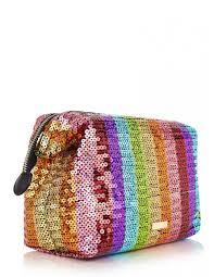 rainbow sequin wash bag skinny dip london makeup bag rainbow
