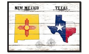 Texas State Flag Texas U0026 New Mexico State Flag Gifts Home Decor Wall Art Canvas